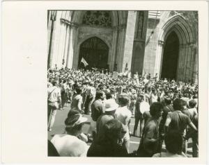 St. Patrick's Cathedral. N.Y. gay pride march, 1981