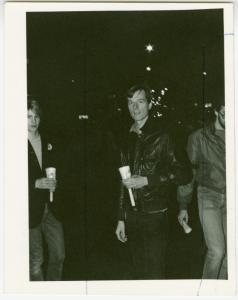 Bill Bahlman at AIDS candlelight march, N.Y.C., 1983 May 2
