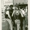 """Outside the """"Ramrod"""" West Street N.Y.C. Gay pride street fair."""