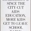 Target City Hall:  Reason #5 to ACT UP on March 28th . . . Since the city cut AIDS education, more kids get to leave school early.
