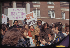 Gay rights demonstration, Albany, New York, 1971 [34].