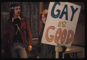 Gay rights demonstration, Albany, New York, 1971 [105].