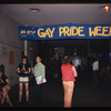 Gay Activists Alliance Firehouse with Gay Pride Week banner, 1971.