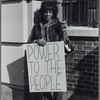 Marsha P. Johnson pickets Bellevue Hospital to protest treatment of street people & gays.