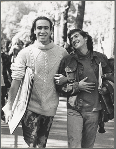 Gay Liberation Front activists Ronny and Jay, New York, 1969.