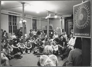 Gay Liberation Front meeting at Washington Square Methodist Church, New York, 1970.