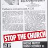 Stop the Church:  Catholics, Condoms and AIDS [New York Times headline]