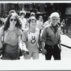 Mark Giles (at right), Sandy, and Wendy at Christopher Street Liberation Day march, 1970