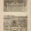 Cour de marbre; 1. Motif décoratif central; 2. Attique.
