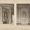 Vestibule de la chapelle - 1er étage; motif. Milieu du vestibule; porte des escaliers et galeries.