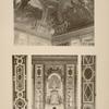 1. Salon de Diane - angle du plafond; 2. Salon de Diane - motif du milieu; 3. Salon de Diane - soubassement en marbre des fenêtre; 4. Salon de Vénus - soubassement en marbre des fenêtres.