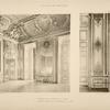 1 - Ensemble de la chambre de la reine. 2 - panneau d'angle de la chambre de la reine.