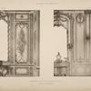 Appartement de Mme Adelaïde, fille de Louis XV; détails des menuiseries.