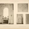 1 - Glace de la chambre a coucher; 2 - base et socle des pilastres; 3 - motif de panneau dans la pièce; 4 - chambranle des baies du salon des glaces.