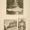 1 - Bassin dans le jardin du roi; 2 - perron de Trianon sous bois; 3 - vase en plomb du bassin des quatre nymphes.
