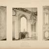 Rez-de-chaussée; appartement du dauphin; 1 - volets de l'appartement; 2 - cheminée de la bibliothèque.