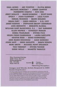 Images and Words:  Artists Respond to AIDS, Painted Bride Art Center, Philadelphia, Pennsylvania (Flier)