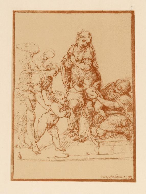 [Drawing of the holy family.]