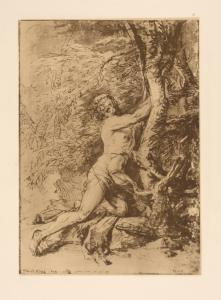[Drawing of Milo of Croton.]