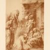 Drawing of adoration of the kings