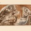 Sketch for fresco of annunciation