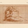 Drawing of reclining figure