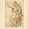 Botticini, British museum, 589. [Study for coronation, with Christ.]