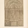 Credi, Uffizi, 686. [Study for a marble chapel with an annunciation over the altar.]