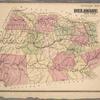 Outline Map of Delaware Co. New York
