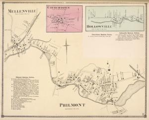 Hollowville [Village]; Hollowville Business Notices.; Churchtown Business Notices.; Churchtown [Village]; Mellenville [Village]; Philmont Business Notices.; Philmont [Village]