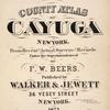 County Atlas of Cayuga New York.