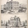 Cor. of Genesee & South Str's Auburn N.Y.; Res. of Sylvester Willard, M.D. Cor. Genesee & Washington Str's Auburn, N.Y.