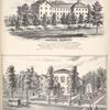 """Oakwood Seminary; Res. of O.E. Burdick ESQ., Cor. Franklin & John St's Auburn, Cayuga Co. N.Y."""