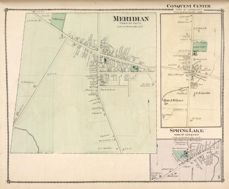 Meridian [Village]; Conquest Centre [Village]; Spring Lake [Village]