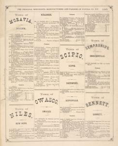 """""""The Principal Merchants, Manufacturers and Professional Men of Cayuga County, N.Y. [cont.]"""""""
