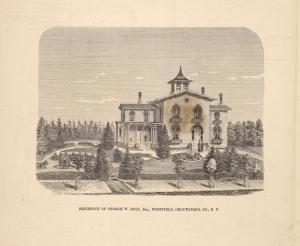 Residence of George W. Holt, Esq., Westfield, Chautauqua Co., N.Y.