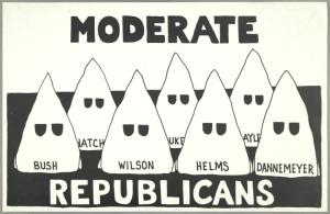 Moderate Republicans [7 Ku Klux Klan hoods with names] (Draft)