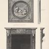 Chimney-piece of ante-room with mantelpiece over, of the library in Sion house, seat of the duke of Northumberland.