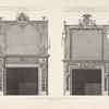 Chimney-pieces in third drawing room and the countess of Derby's dressing room in Earl Derby's house in Grosvenor square.