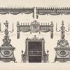 Various pieces of furniture designed for Luton house, beds, a seat of the earl of Bute.