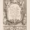Nouveaux livre d'ornements, [Title page]