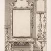 Design for a table and mirror with legs in shape of men and women.]