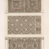 Three designs for wall panels.]