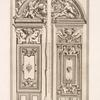 Two designs for door and tympanum, of same dimensions but varied decoration.]
