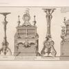 Gueridon; bureau de cabinet [...]; torchere pour une galerie; serre papier veu de face [...]
