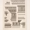Designs for cornices or entablatures.]