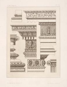 [Designs for cornices or entablatures.]