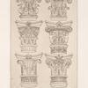 Six designs for capitals.]