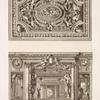 Design for a ceiling decoration; scene of elaborately decorated interior.]