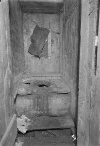 Outhouse interior
